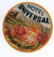 Hotel label luggage labels pretty colours SPAIN #310